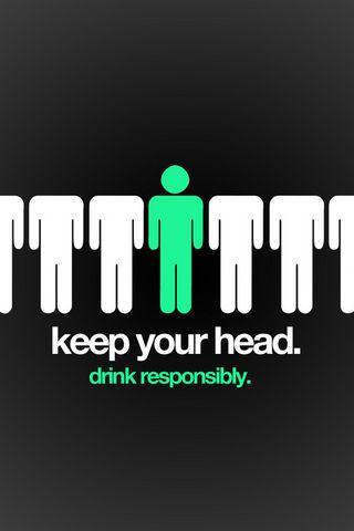 책임감있게 마셔 라.