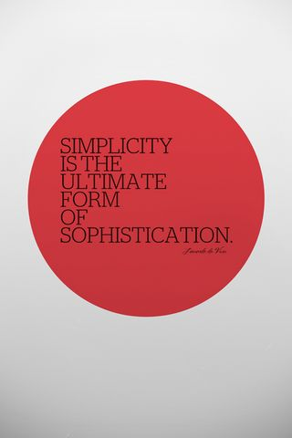 Simplicity Don't Come Easily