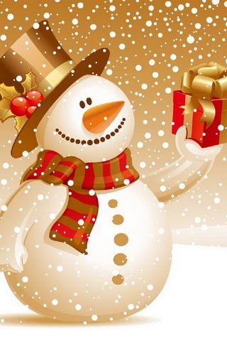 Noel hediyesi ile kardan adam