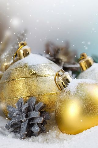 Christmas Gold Ornaments