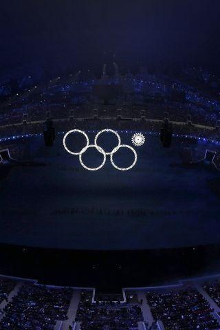 Sochi Olympics Flag Circles