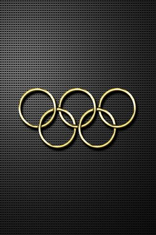 Olympic Gold Rings 640x960