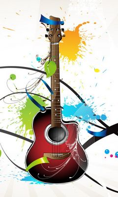 3d Guitar Wallpaper Download To Your Mobile From Phoneky