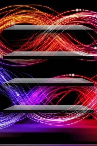 Neon Waves - Home Screen - IP4