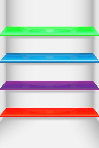 Multi Colour Shelf