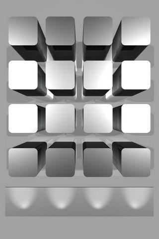 3D Shelves Wallpaper