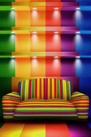 Colorful Shelves Hd
