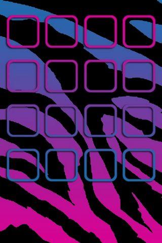 Zebra Purple - Home Screen - IP4