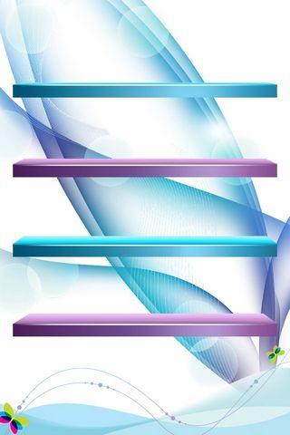 Purple Blue Abstract Shelve