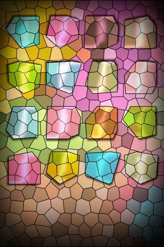 Colorful Crystal Shelf