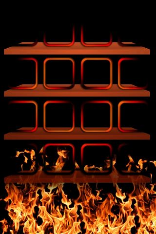 Fire Skull - Home Screen - IP4