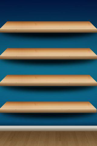Blue Wall Shelf