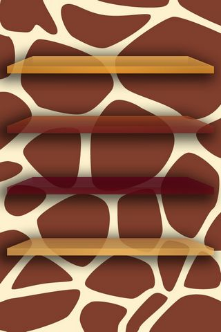 Giraffe Print W Shelves Home Screen - IP4