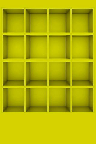 Yellow Shelves HD Wallpaper