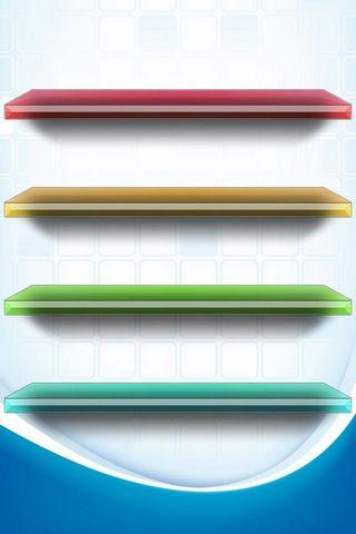 Colored Shelf