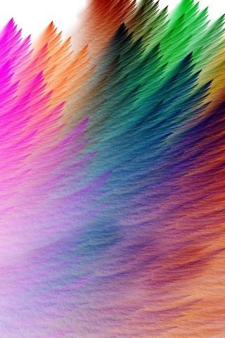Rainbow-feathers