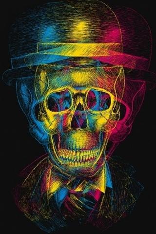 Tri-color-skull