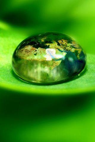 Earth In A Water Bubble