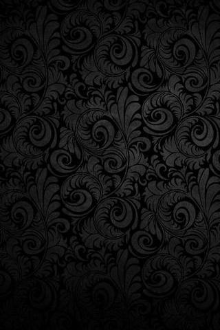 Black Flower Swirls