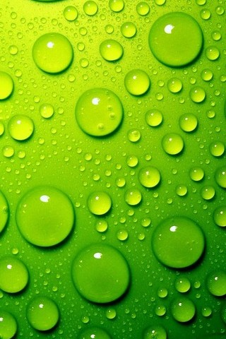 Green-Water-Drops
