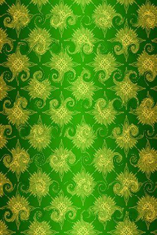 Green Swirlie Pattern