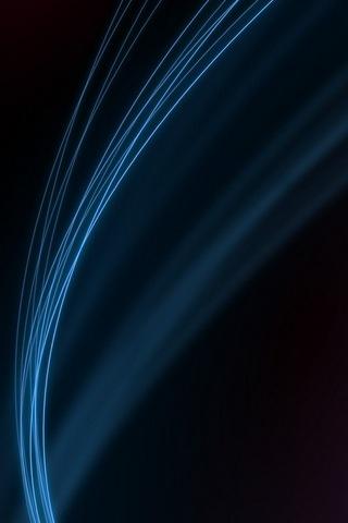 Ligne bleue minimaliste