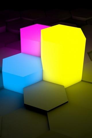 Neon Cubes