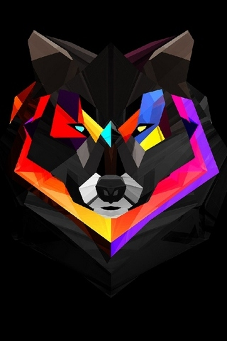 Wolf Polygon Art