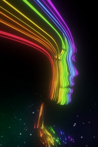Rainbow Face - IPhone5