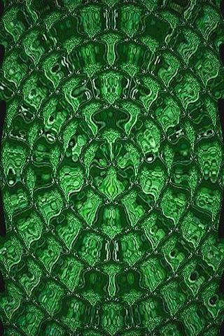 Green Curlicue Pattern