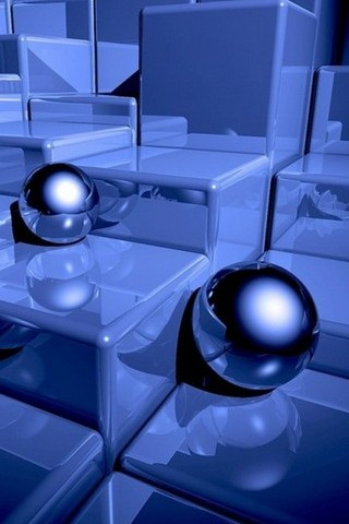 BLUE CHROME SPHERES