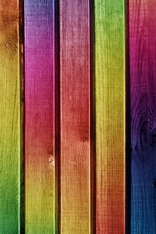 Colourful-Wood-Painting