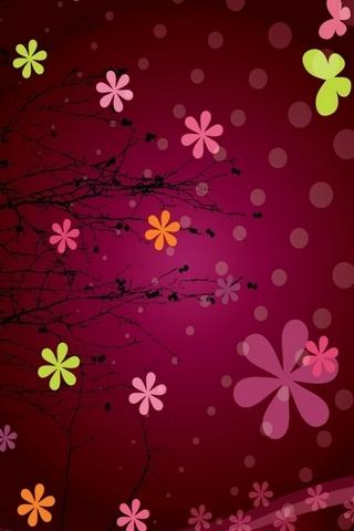 Różowo-abstrakcyjne kwiaty