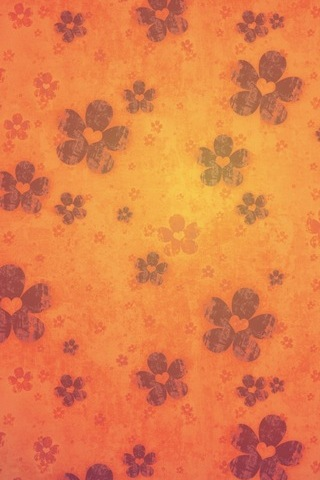 Retro-orange-flowers