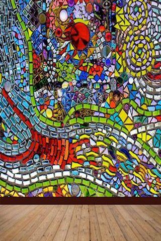 Abstract Mosaic Wall