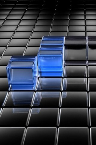 Black-and-Blue-Translucent-Cubes