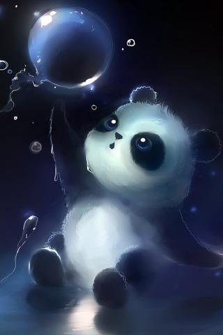 पांडा जादू बुडबुडा
