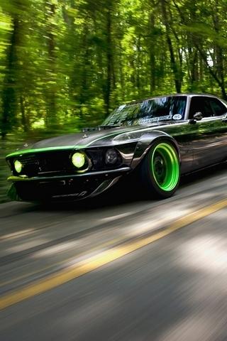 Zielony Mustang