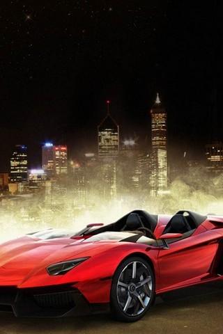 Red Lamborghini