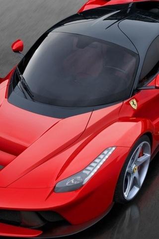 Red Ferrari Laferrari 2013 Luxury Car
