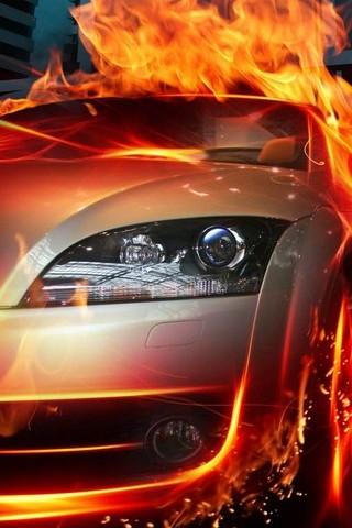 Racing-Car-Speed-Flames