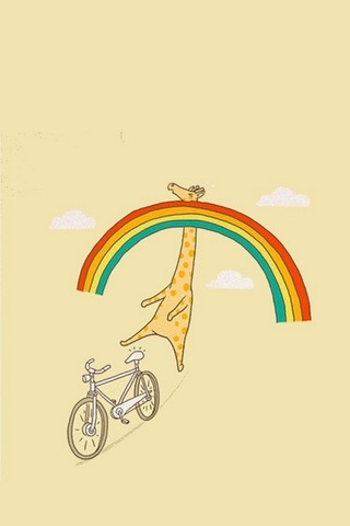 Giraffe Meet Rainbow