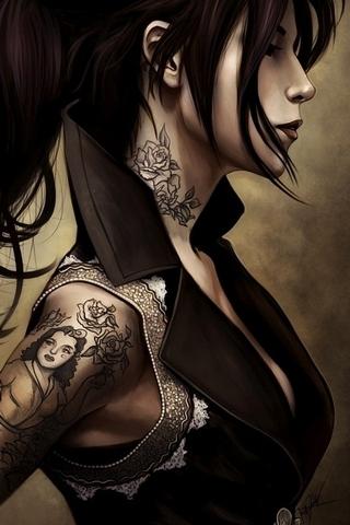 Hot Tattoo'd Woman