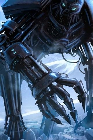 巨大的机器人怪物