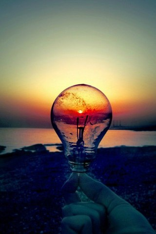 Sunset In The Light Bulb