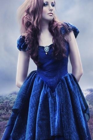 In Blue Dress