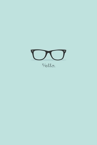 Hipster Glasses Turquoise