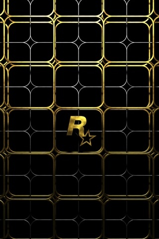 Gold Rockstar Logo - IPhone5