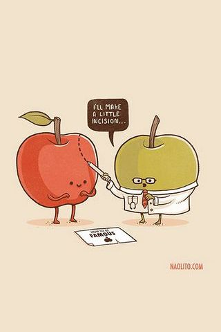Apple Surgery Cartoon