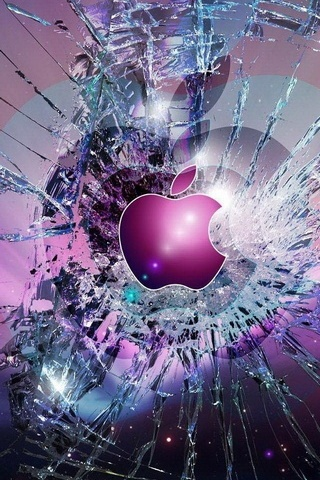 Apple Logo-Broken-Glass